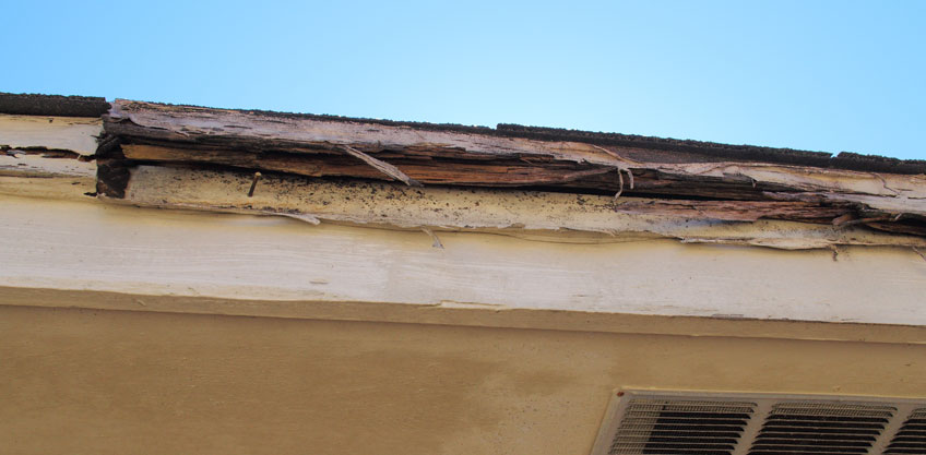 clogged gutters roof damage